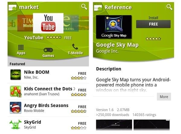 Android Market Android 2.1 ve daha eski sürümler için tarihe karışıyor