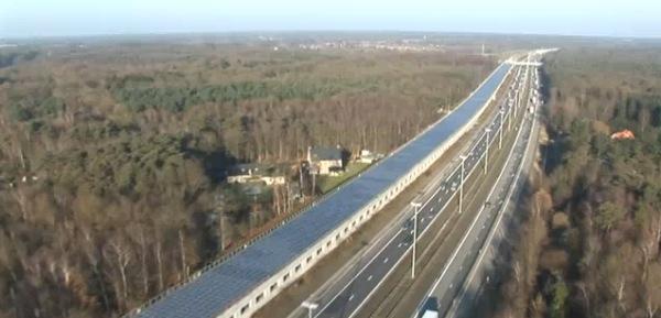 Avrupa'nın ilk güneş tüneli Belçika'daki tren hattında açıldı