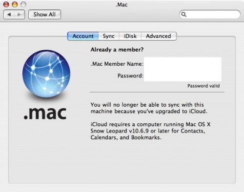 Snow Leopard'a 10.6.9 güncellemesiyle birlikte iCloud desteği gelecek