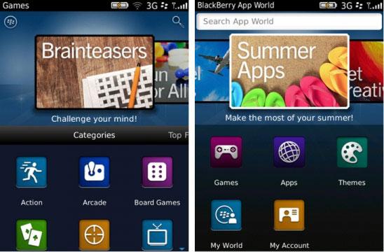 RIM BlackBerry App World 3.0 güncellemesini yayınladı (güncellendi)