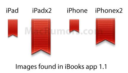 iBooks 2'nin yeni ikonları iPad'de Retina ekranın varlığına işaret olarak yorumlanıyor