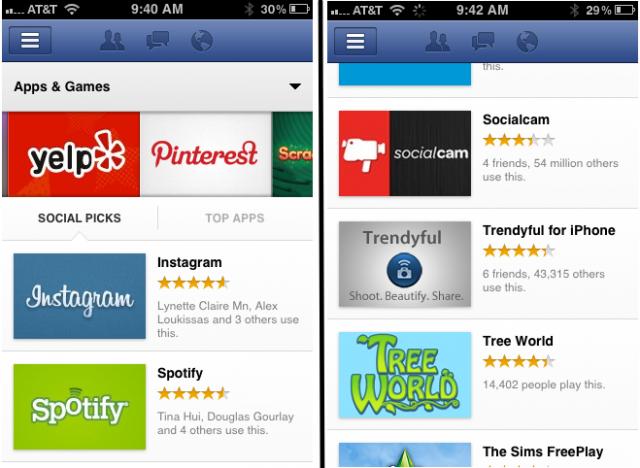 iOS uygulaması üzerinde çalışan Facebook App Center'ın ekran görüntüleri sızdı