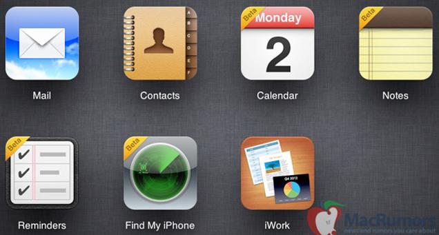 Notlar ve Anımsatıcılar uygulamalı iCloud beta sitesi faaliyete geçti, iPhone'umu Bul yenilendi
