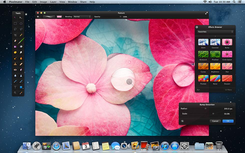 Pixelmator iCloud ve Retina grafik desteğine kavuştu
