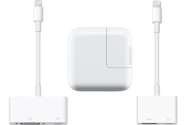 Apple Lightning destekli video adaptörlerini ve 12 Watt USB şarj adaptörünü piyasaya sürdü