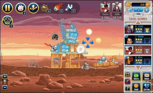 Angry Birds Star Wars Facebook'a ek özelliklerle geldi