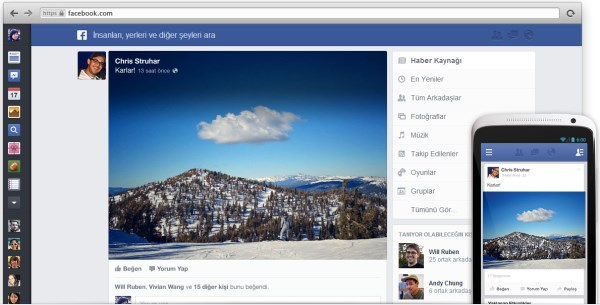 Facebook yeni tasarımından netbook'lar yüzünden vazgeçmiş