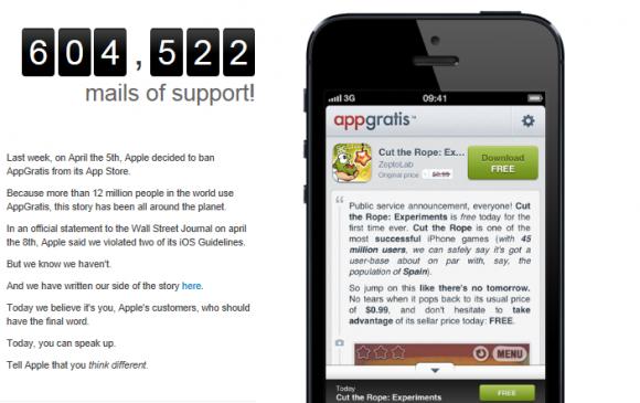AppGratis Apple'ın kararına karşı mücadeleyi bırakmıyor