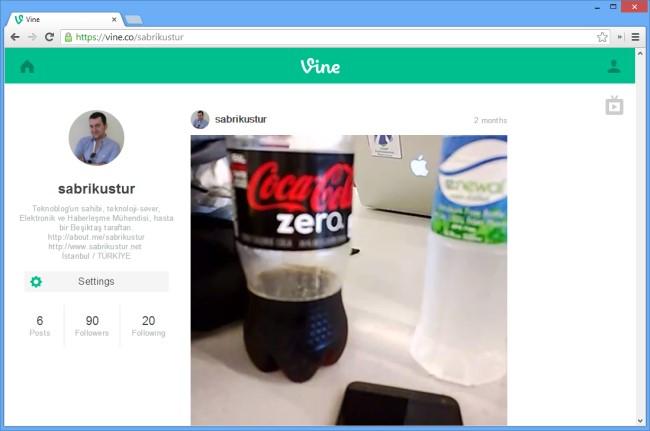 Vine web sitesi ve kullanıcı profilleri TV Modu ile birlikte açıldı