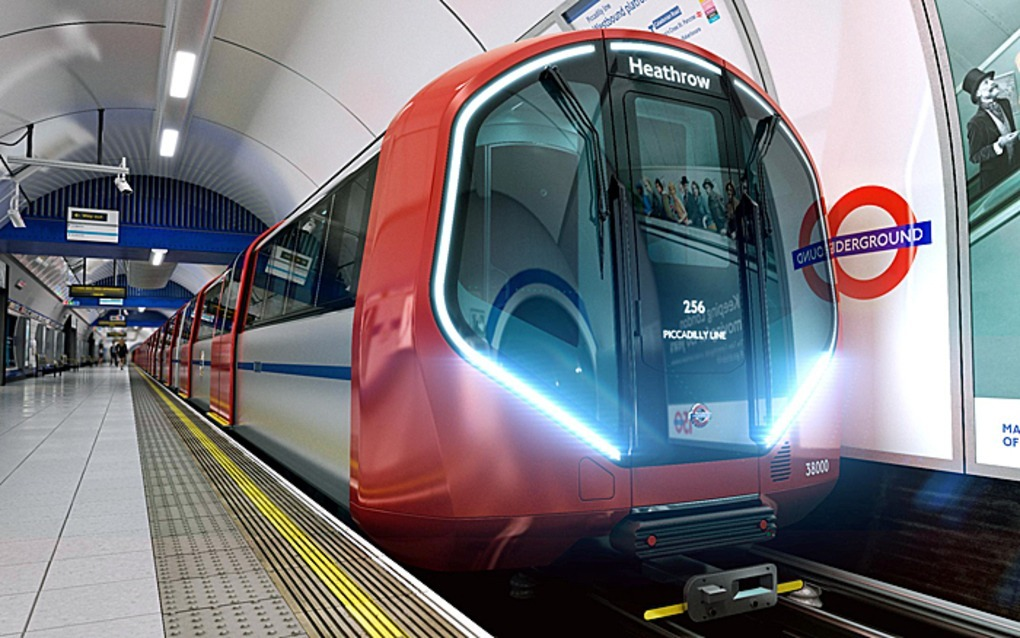 Londra'nın gelecekten gelen metro trenleri
