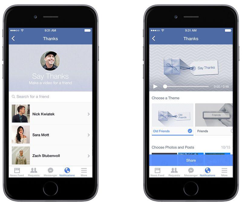 Facebook'tan yeni video aracı: Teşekkür Et