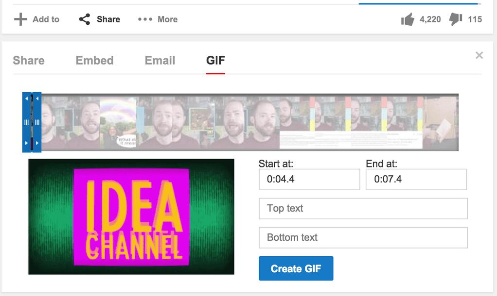 YouTube videolara otomatik GIF animasyonu yapım aracı ekliyor