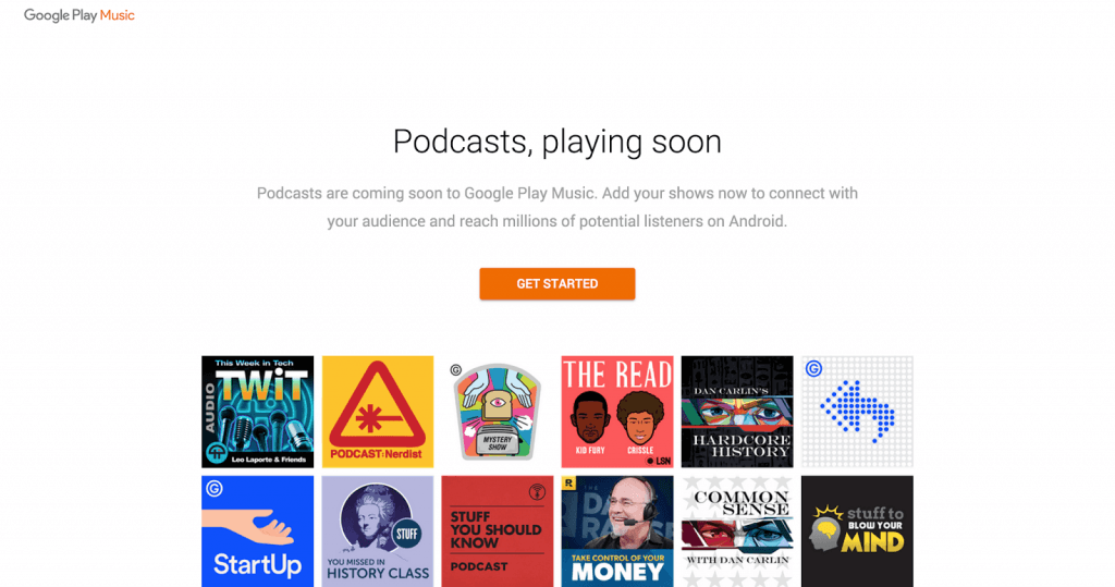 google play muzik podcast