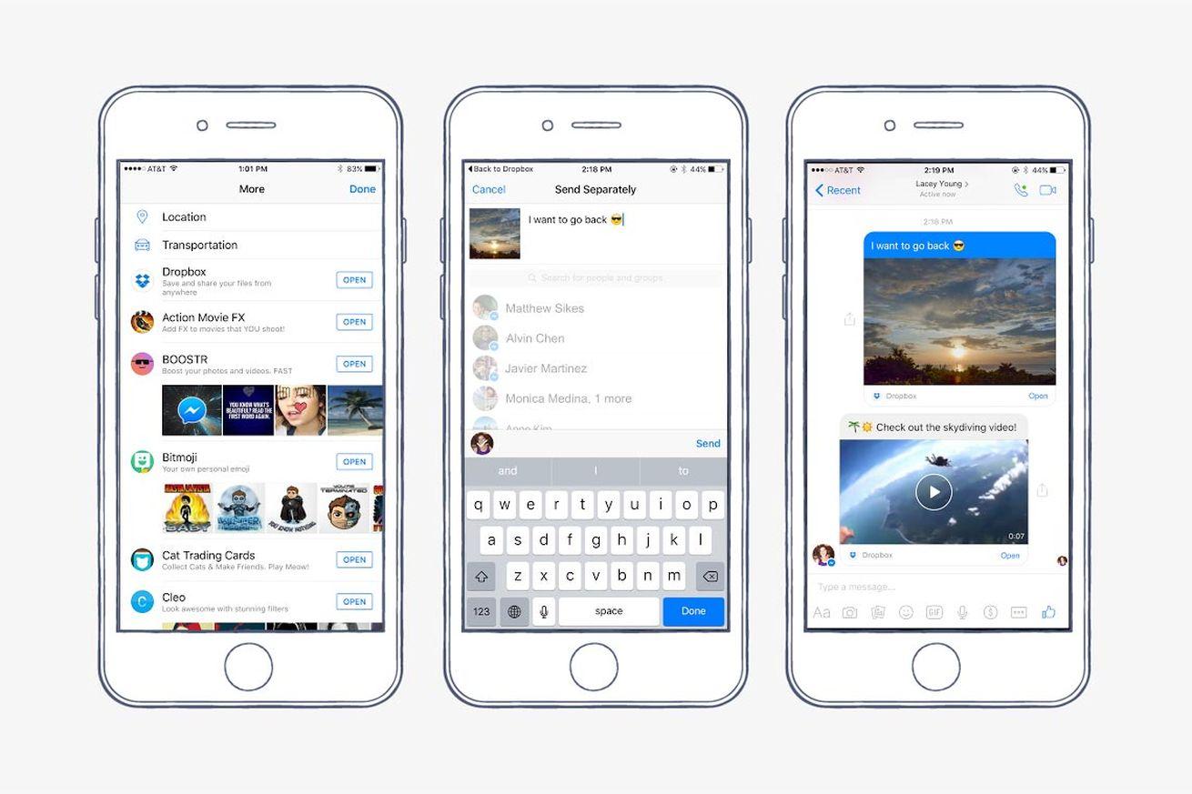 facebook messenger dropbox