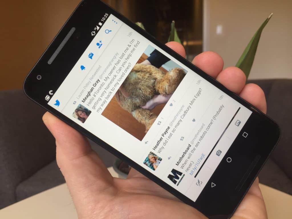 twitter android uygulamasi