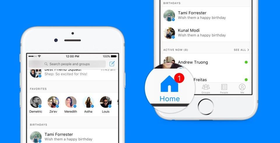 facebook messenger ana sayfa
