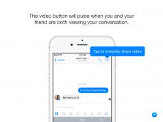 Facebook Messenger ile sohbetlerde anında video paylaşılabilecek