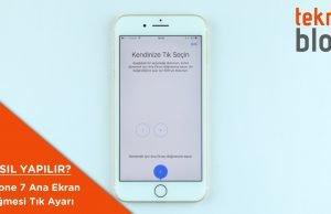 iphone 7 ana ekran düğmesi