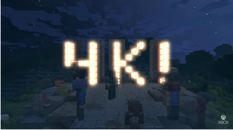 Minecraft Xbox One X ile 4K çözünürlük desteği kazanıyor