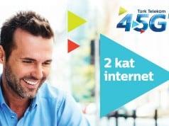 Türk Telekom yeni 4.5G kullanıcılarına iki kat internet veriyor