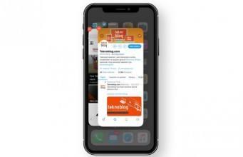 iPhone X'da uygulamaları kapatma nasıl yapılır?