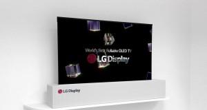 LG Display'in 65 inç OLED paneli rulo yapılabiliyor