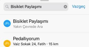 Apple Haritalar'a bisiklet paylaşımı bilgileri eklendi