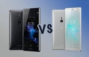 Sony Xperia XZ2 Premium ve Xperia XZ2 karşı karşıya
