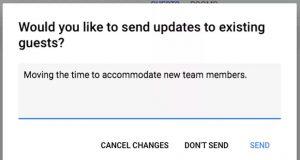 Google Takvim kullanıcıları değişiklik yapılan etkinliklere not ekleyebilecek