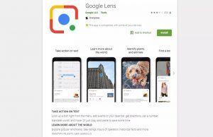 Google Lens Google Play'e geldi, ancak indirilemiyor