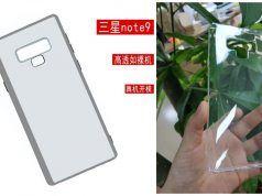 Galaxy Note 9 kılıfı parmak izi tarayıcısının konumunu gösteriyor
