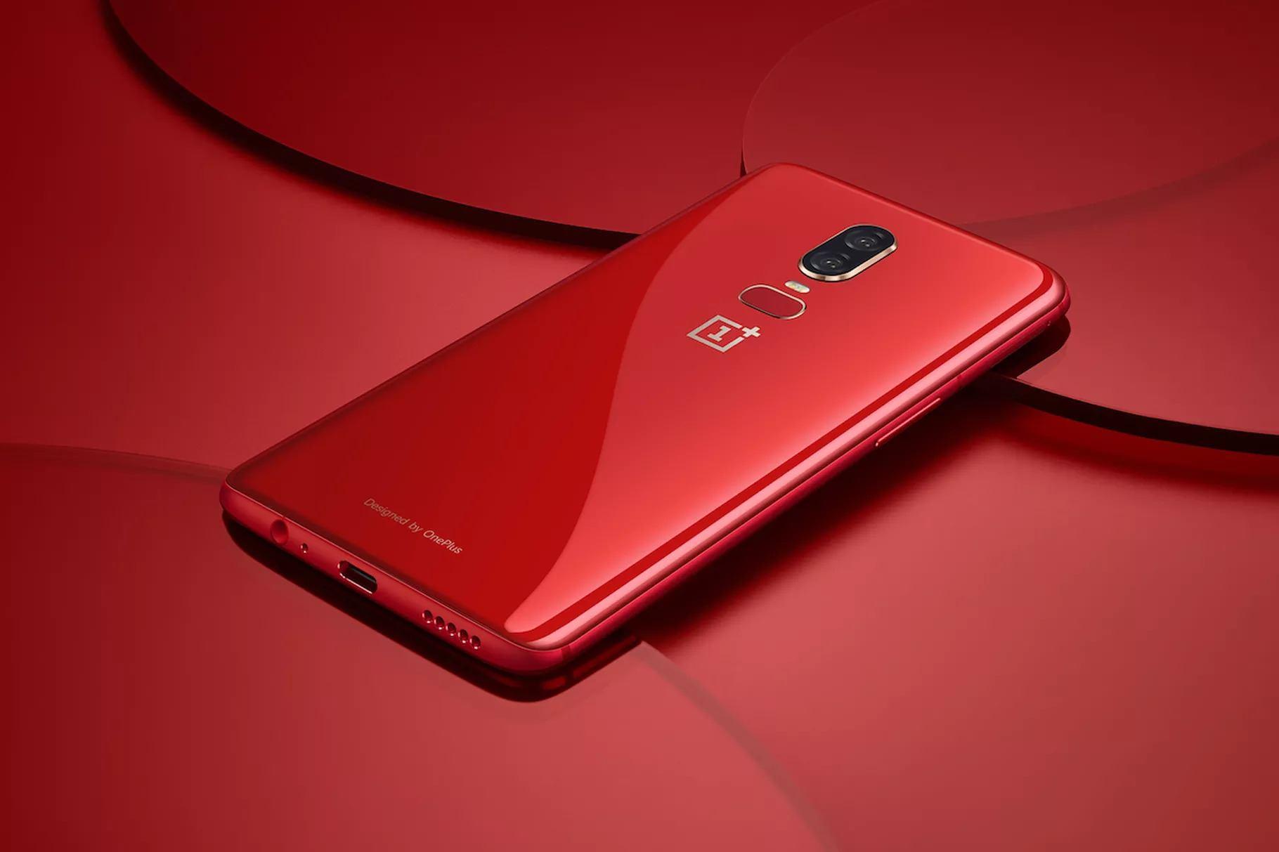 kırmızı oneplus 6