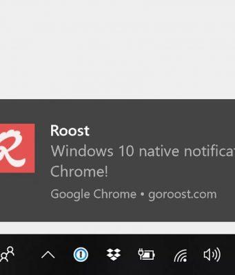 Chrome Windows 10 bildirimlerini artık destekliyor