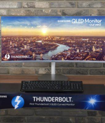 Samsung'dan Thunderbolt 3 destekli kavisli QLED monitörler