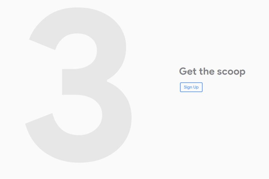 Google Pixel 3 için ilk işareti verdi