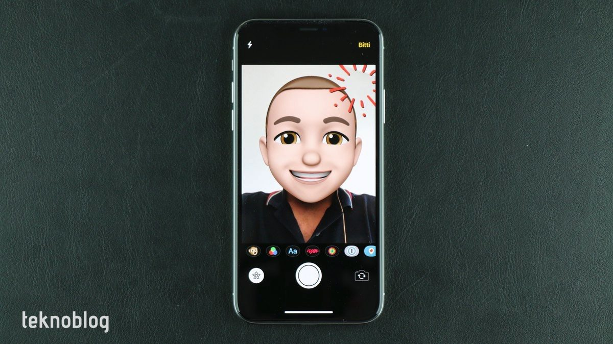ios 12 mesajlar kamera efektleri