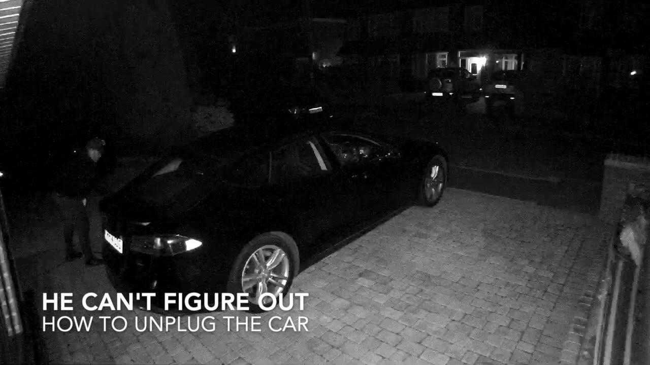 Tesla Model S hırsızlığı saniye saniye kaydedildi – Video
