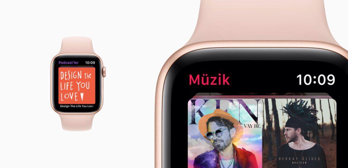 apple watch podcast'ler