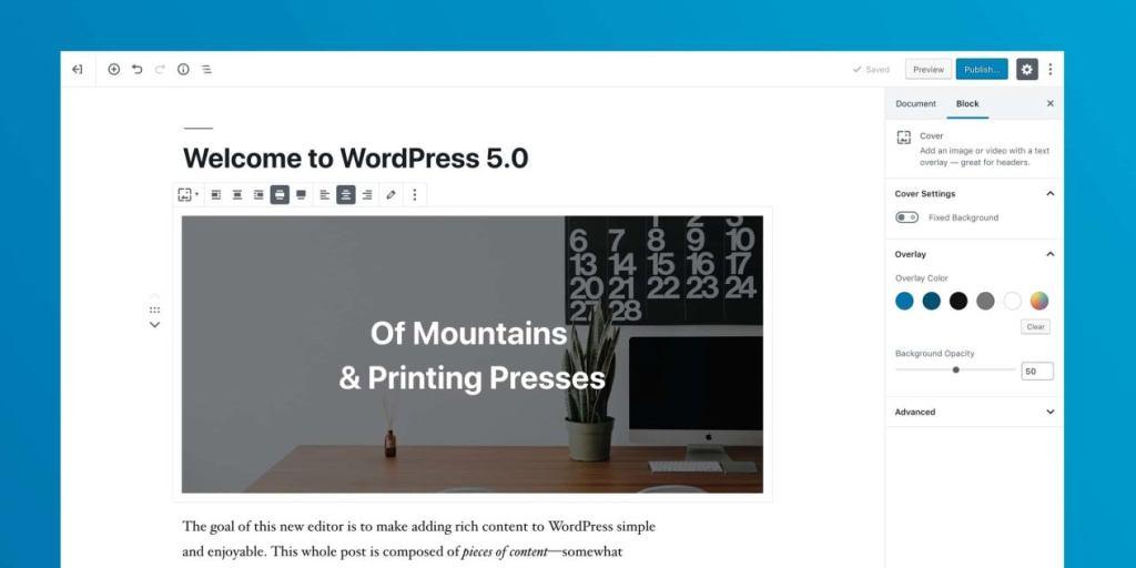 wordpress 5.0 blok editör
